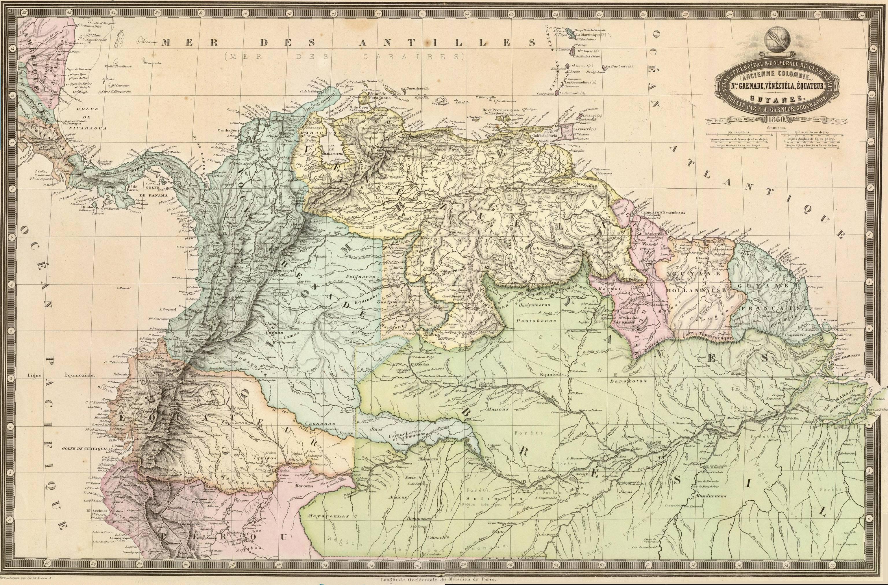 Mapa De Venezuela Limites Y Fronteras