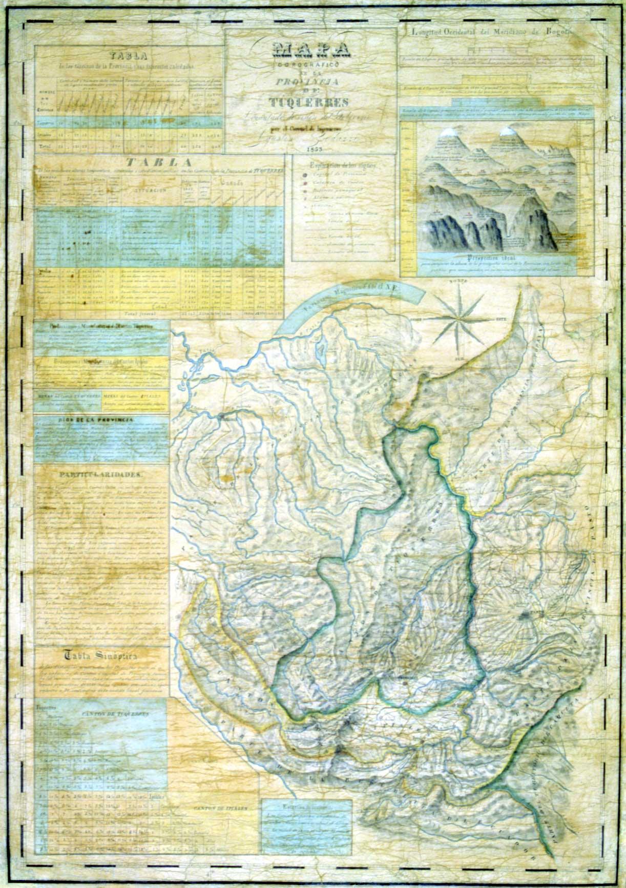 Mapa de la provincia de Tuquerrez, Agustin Codazzi 1853