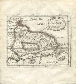 El lago Parime, y la ciudad dorada de Manoa. Pierre Duval, La Guaiane - ou France Equinoctiale, 1682